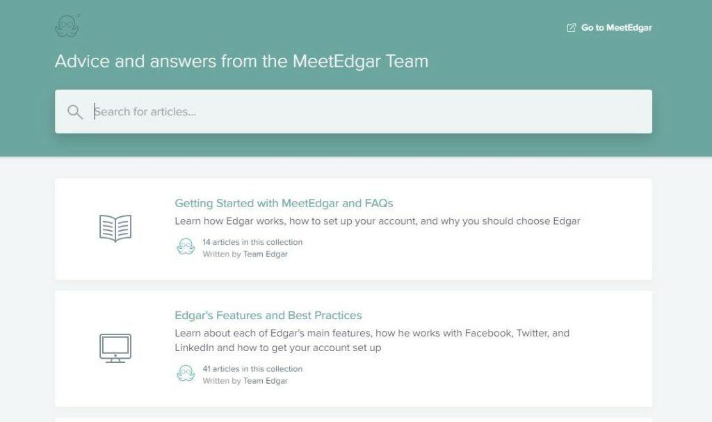MeetEdgar support